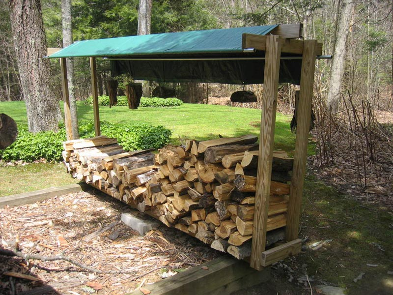Outdoor firewood holder