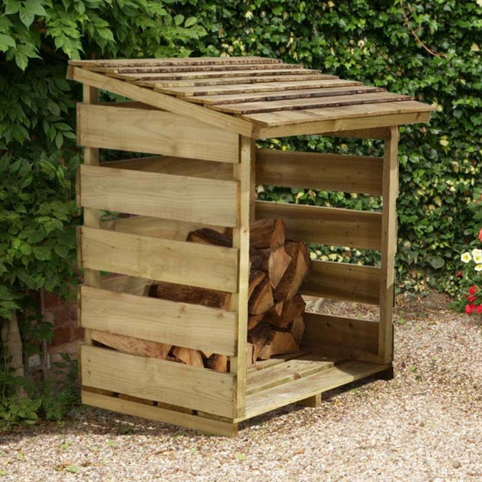 Outdoor Firewood Storage Will Keep Your Firewood Dry And Within Easy Reach