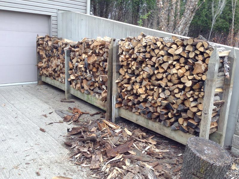 Outdoor firewood storage