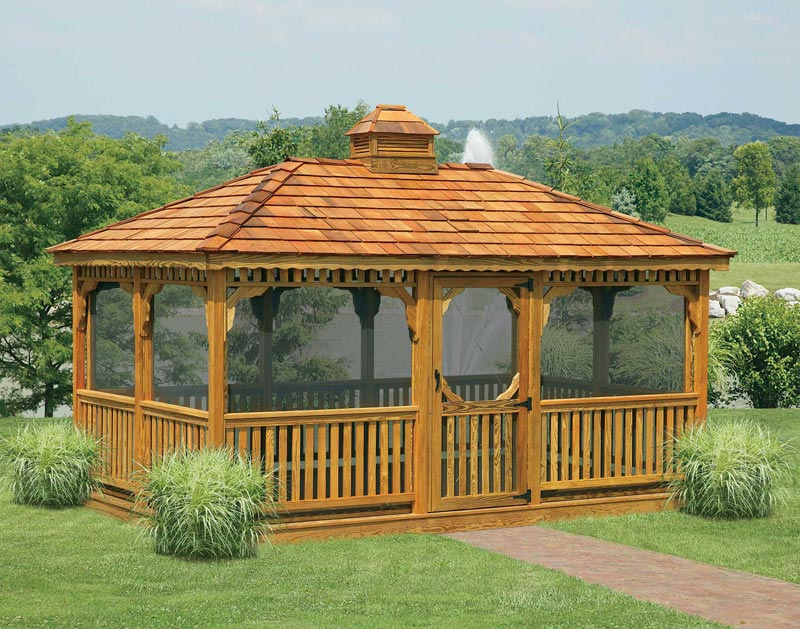 Outdoor glass gazebos