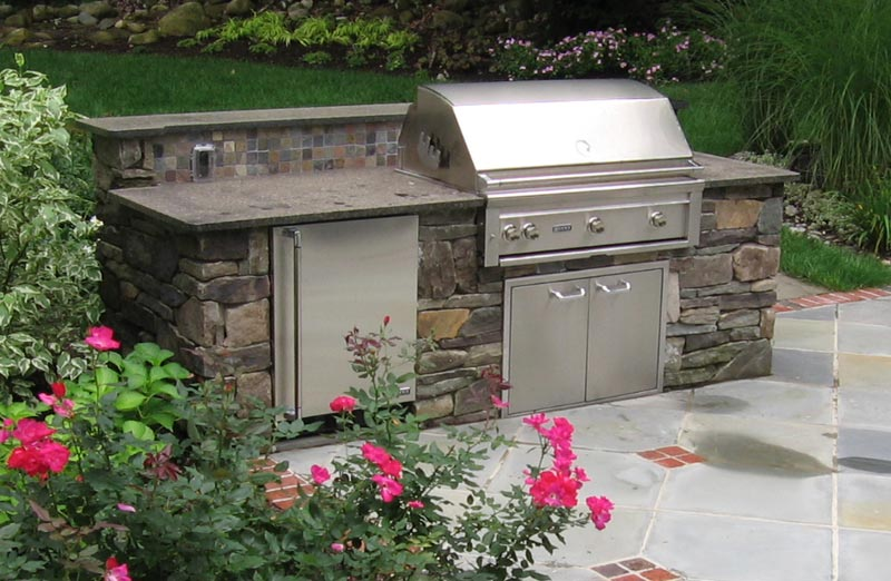 Outdoor stone bbq designs