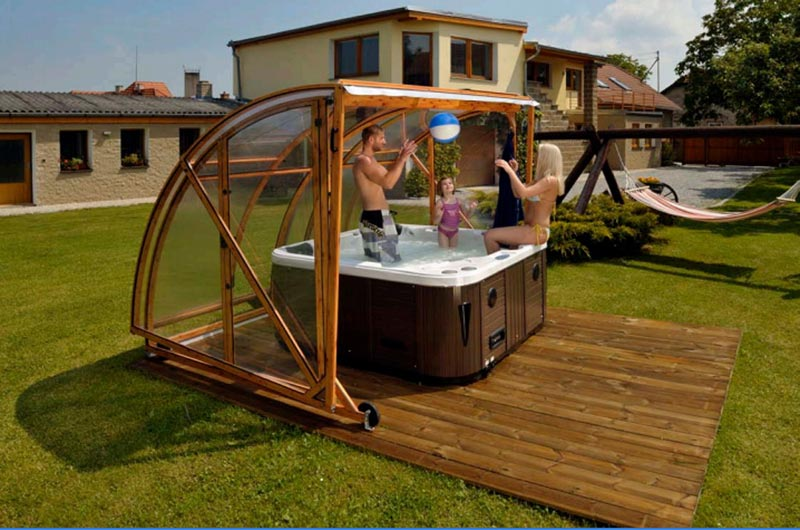 Spa gazebo ideas