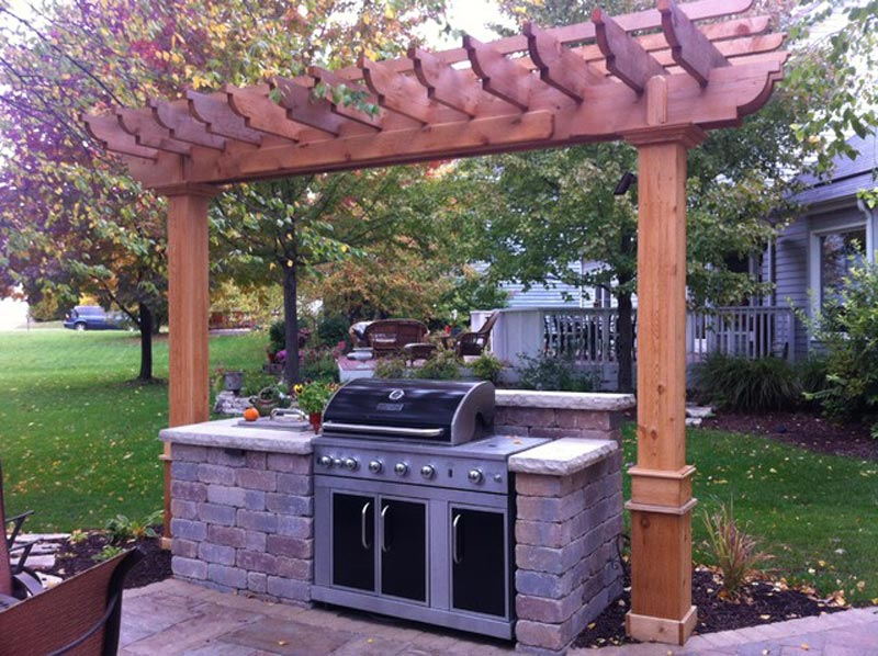 Barbecue Pergola