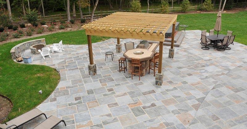 Concrete patio ideas photos