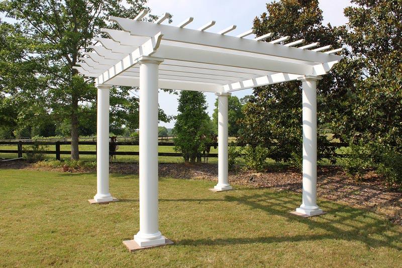 Fiberglass pergola columns