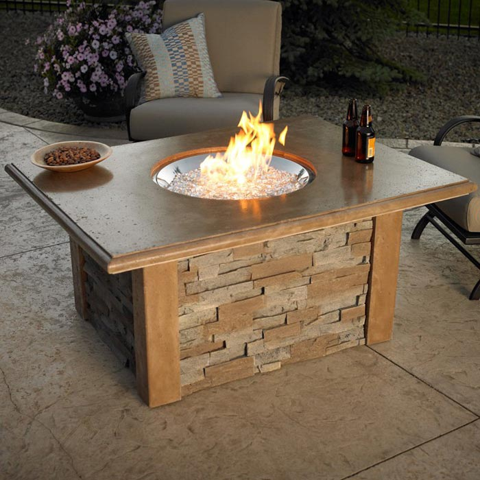 Gas backyard fire pits