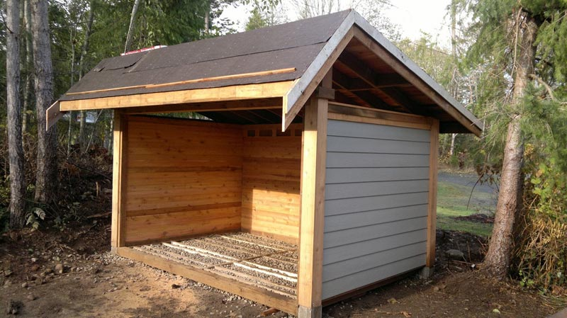 How to build a firewood shed plans