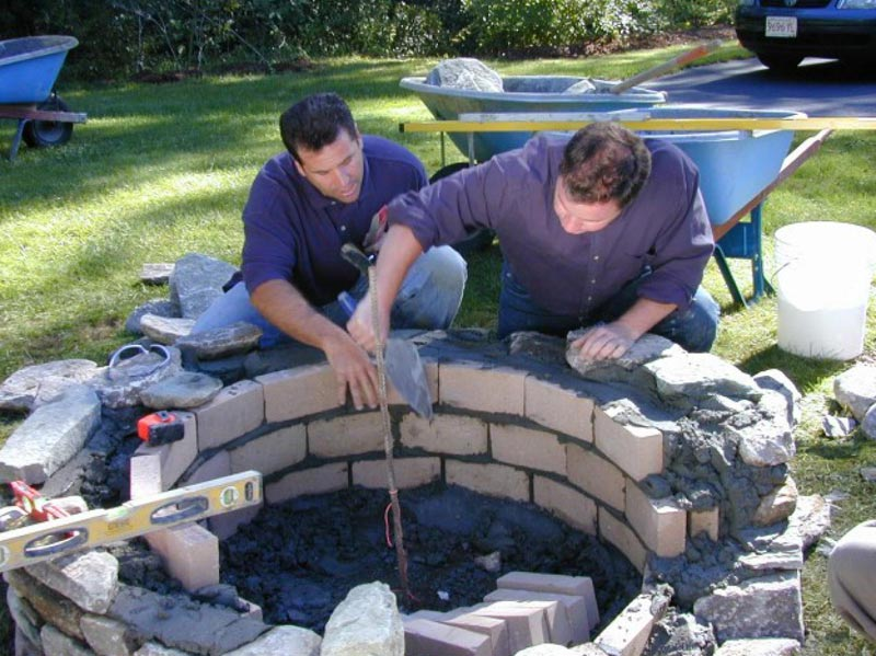 How to build a patio table with fire pit