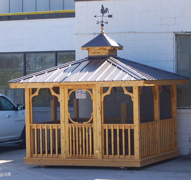 Cedar gazebo with aluminum roof costco
