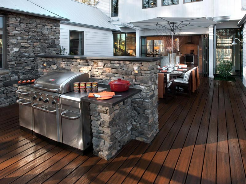 Designing an outdoor bbq area