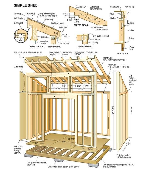 Firewood storage shed blueprints