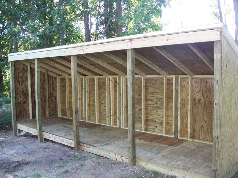 Firewood storage shed building plans
