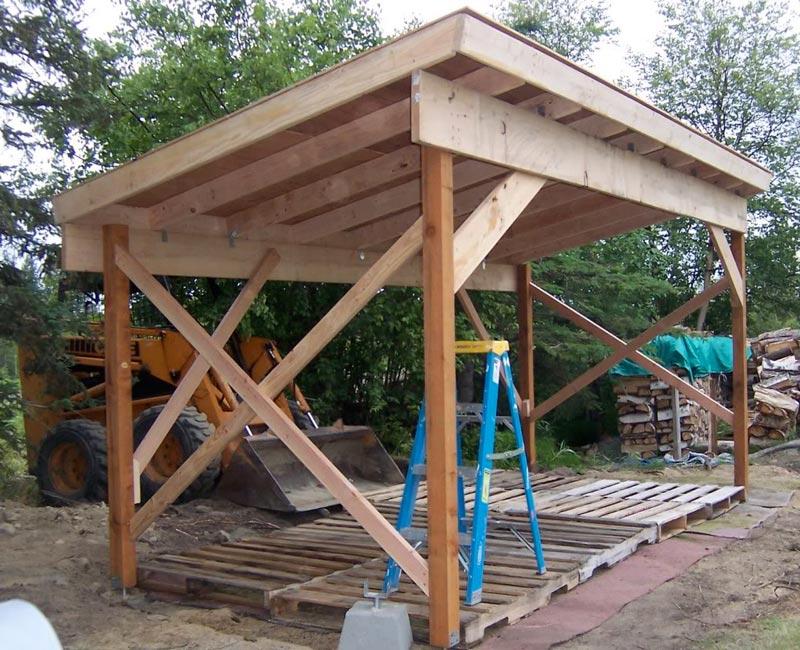 Firewood storage shed design plans