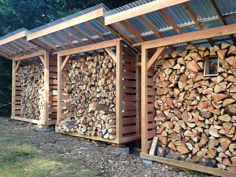 Firewood storage shed ideas
