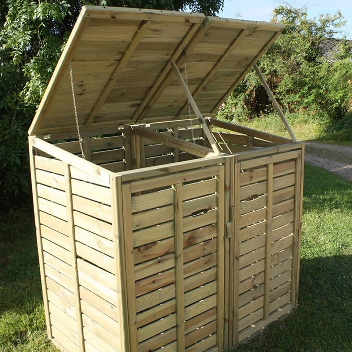 Firewood Storage Shed For Keeping Firewood Logs Dry And Easy Accessible