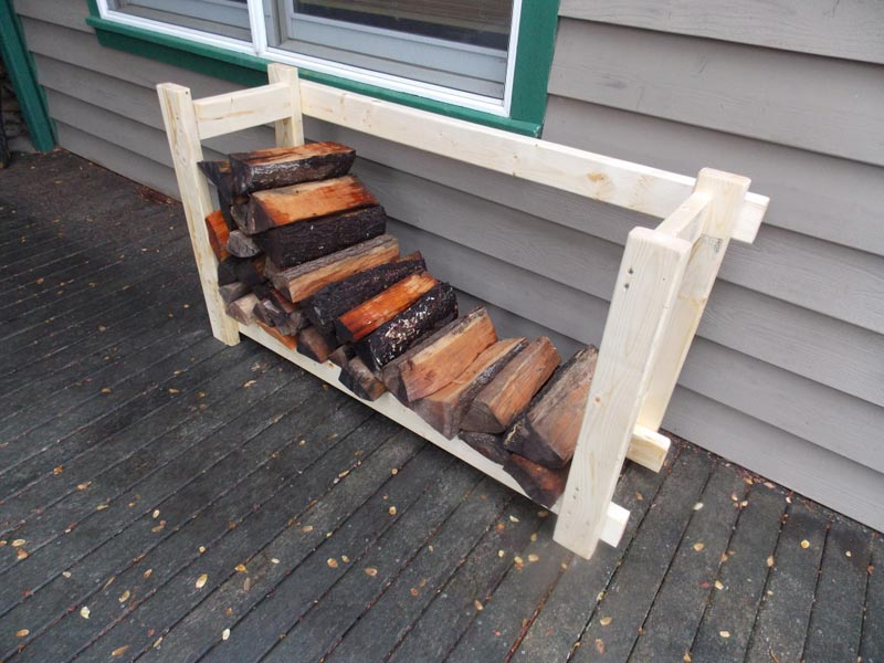 How to build a firewood rack from pallets