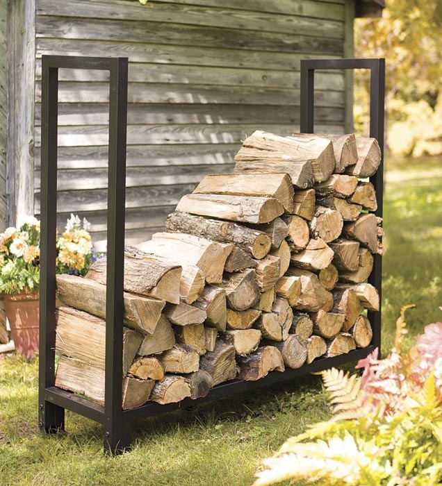 How to build a firewood rack out of metal