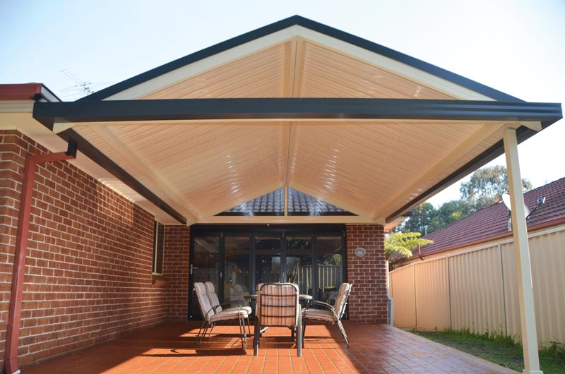 How to build a gable pergola attached to the house