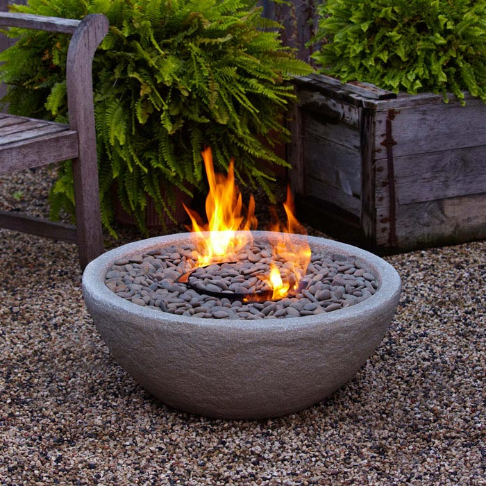 Outdoor fire bowl gel