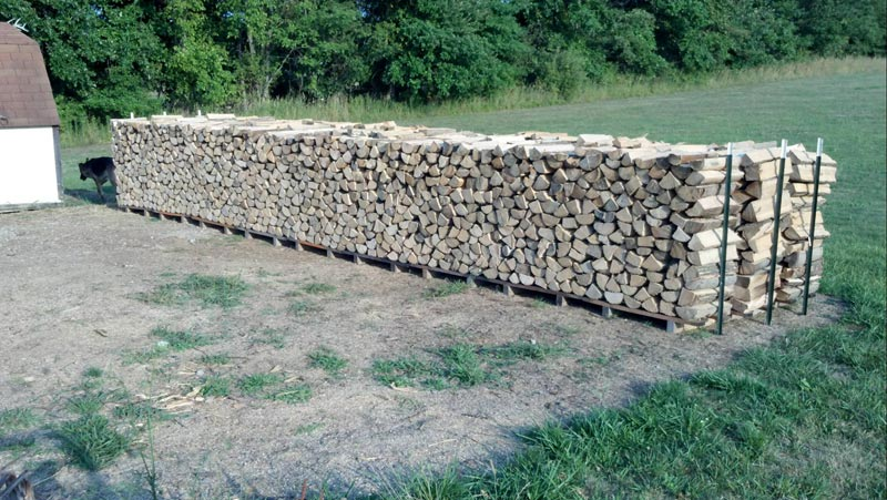 Outdoor Firewood Rack For Secure Wood Storage