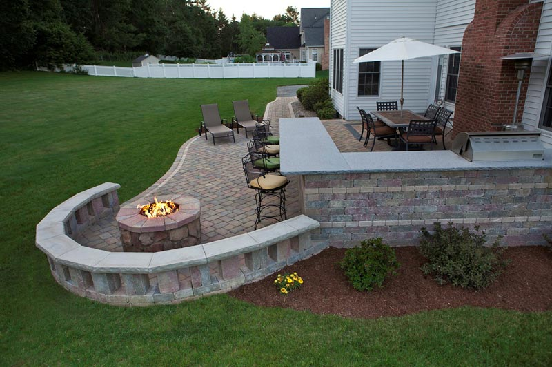 Patio design fire pit ideas