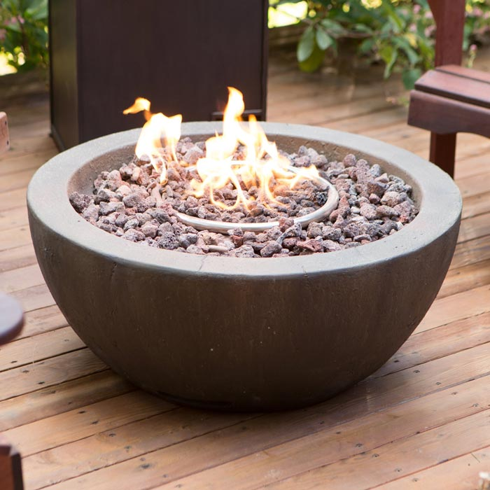 Patio fire bowl propane