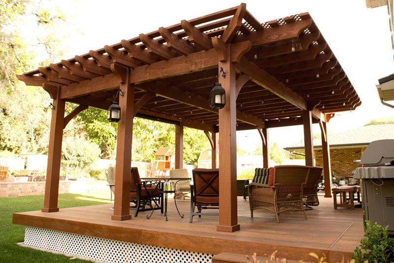 Pergola awning cost