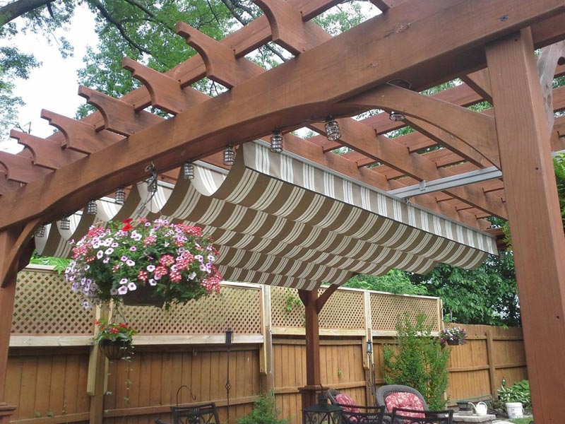 Pergola awning cover