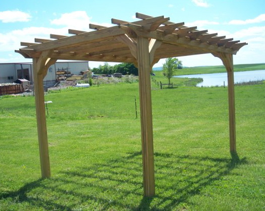 small wooden pergola kits