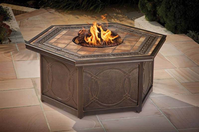 Agio Fire Pit Patio Set