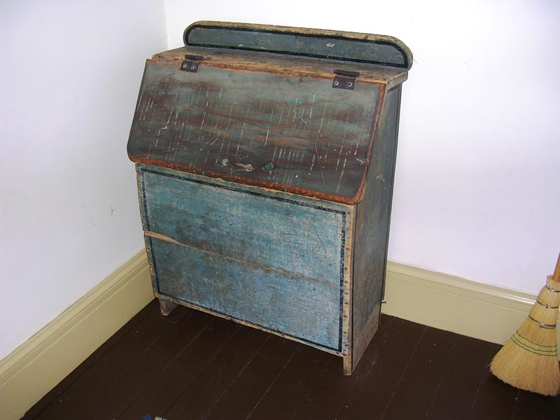 Antique firewood storage box