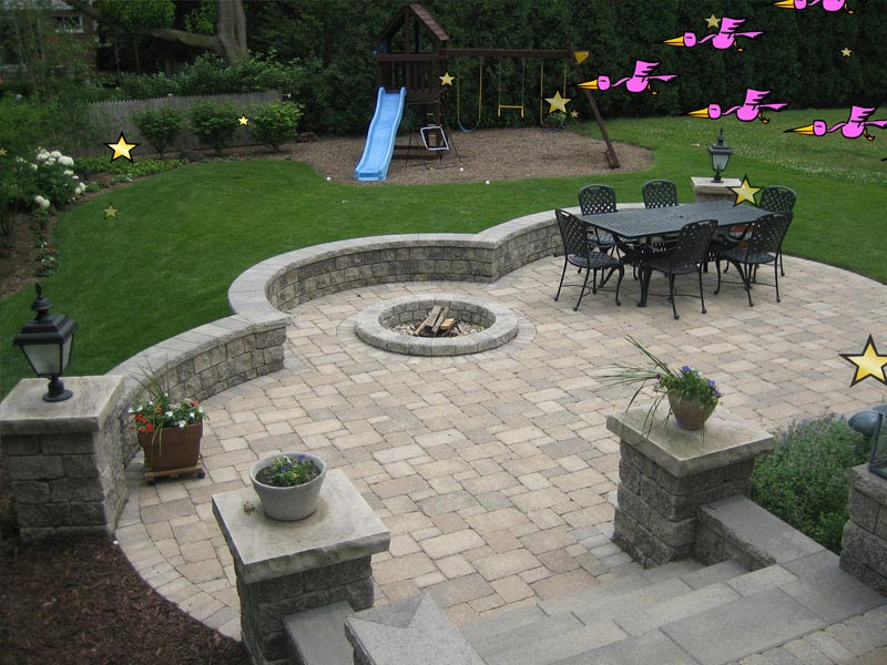 Brick patio fire pit ideas
