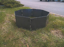 CAMPFIRE PORTABLE FIRE PIT RING / INSERT 32″ (BLANK) OCTAGON STEEL 8 PANELS