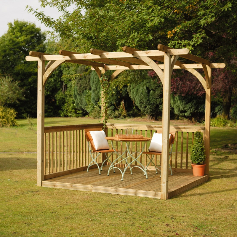 decking kit with pergola 24 x 24 m decking kits at - Pergola Kit