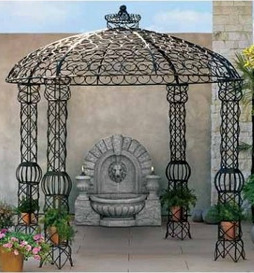 Double click on above image to view full picture. Besides being highly  sturdy, a wrought iron gazebo ... - Benefits Wrought Iron Gazebo Kits Garden Landscape