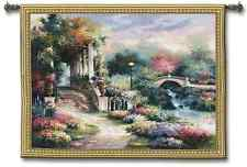 EUROPEAN PERGOLA GARDEN WALK ART TAPESTRY WALL HANGING SMALL 53×42