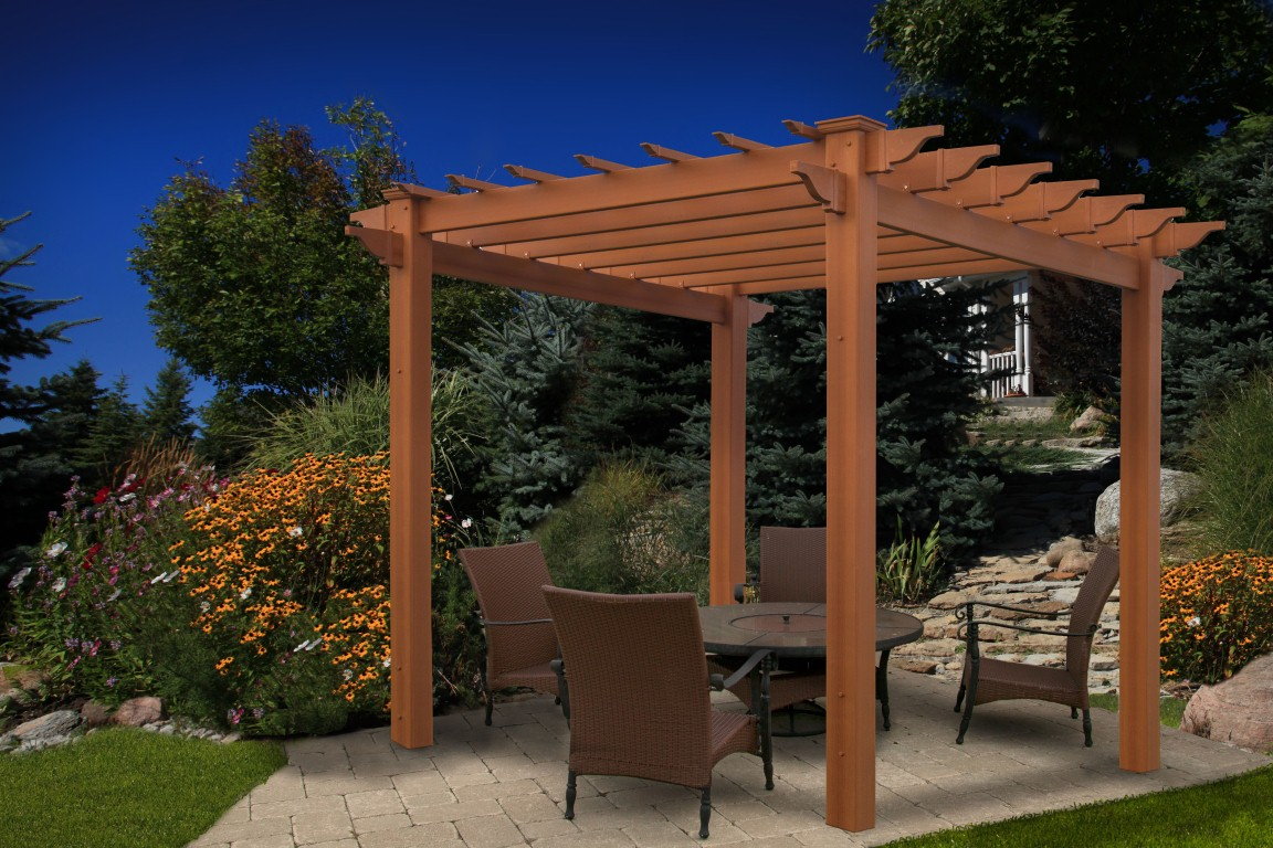 small wooden pergola kits garden landscape. Black Bedroom Furniture Sets. Home Design Ideas