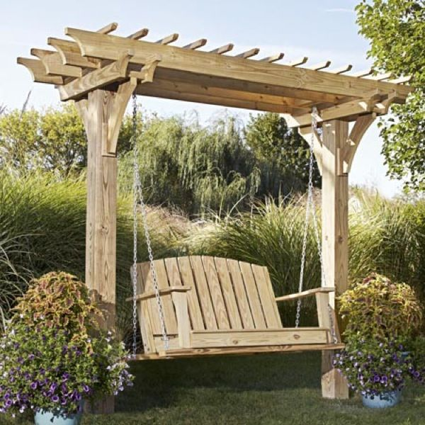 Lovely Pergola With Swing