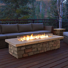 New Arrival Real Flame Sedona 66″ Rect Propane Fire Table