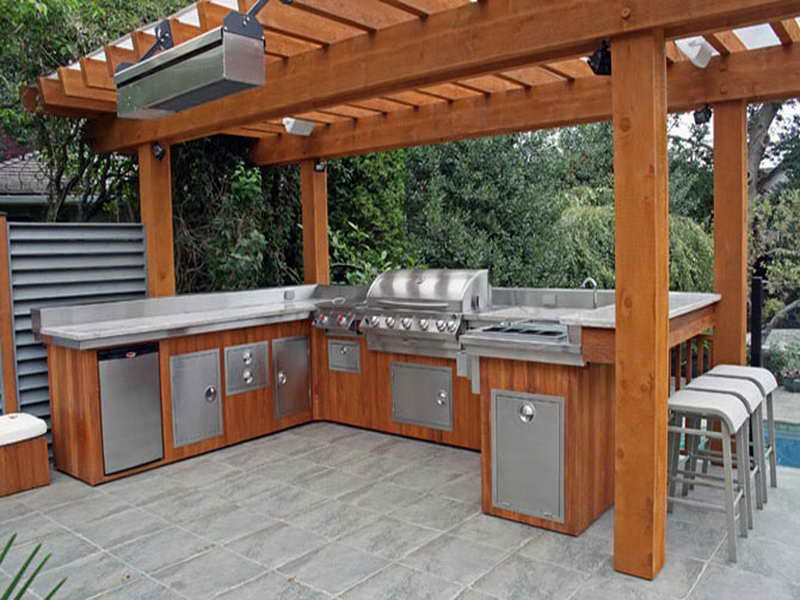 Outdoor bbq area plans