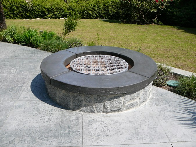 Peculiarities Of Concrete Fire Pits Garden Landscape