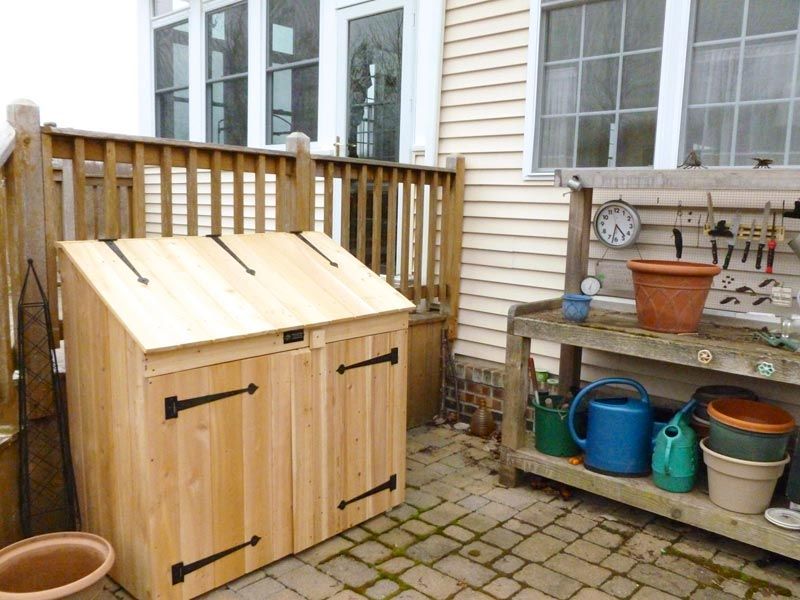 Outdoor firewood storage box plans