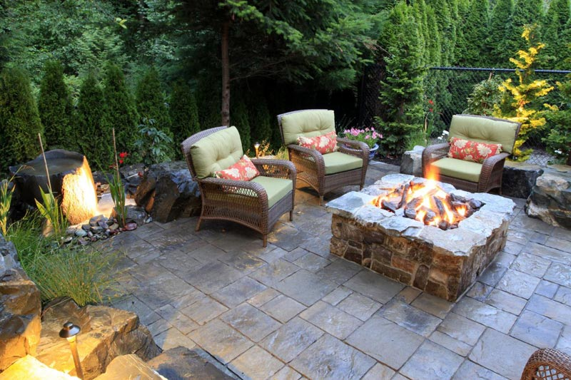 Patio design pictures fire pits