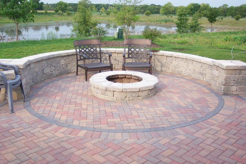 Patio designs fire pits