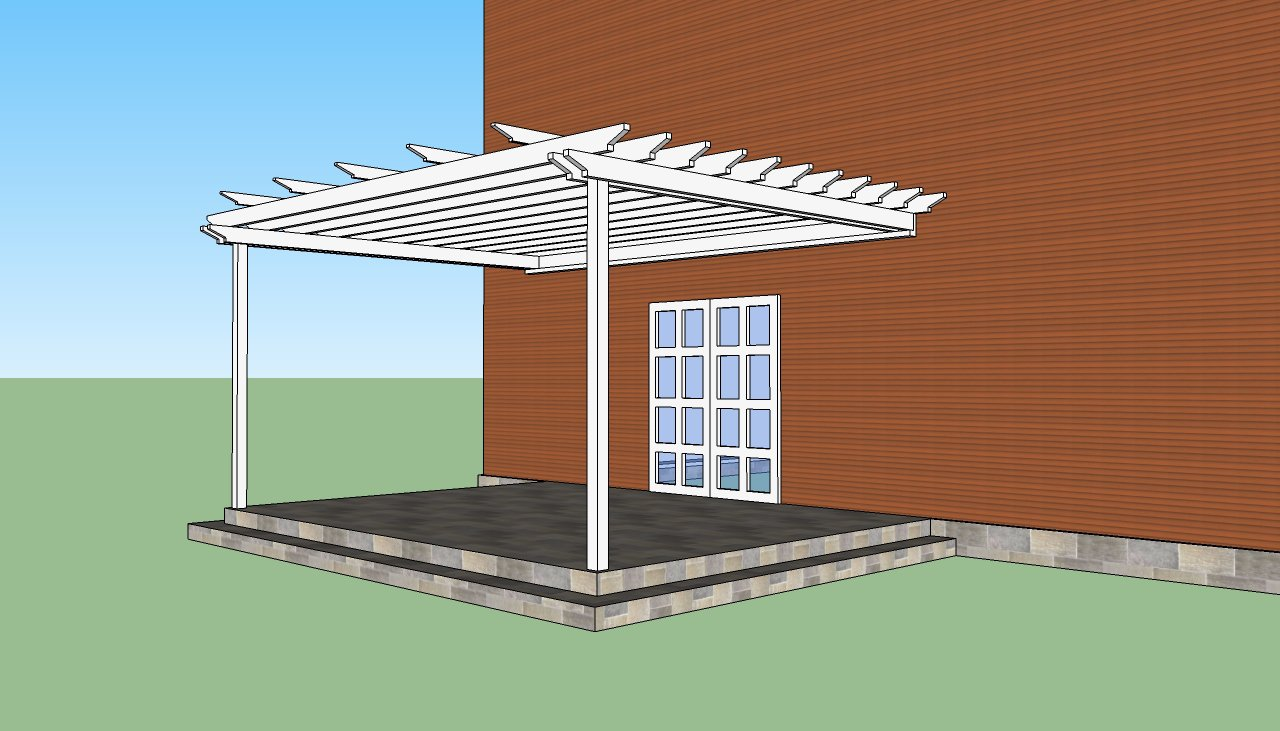 Diy Pergola Attached To House
