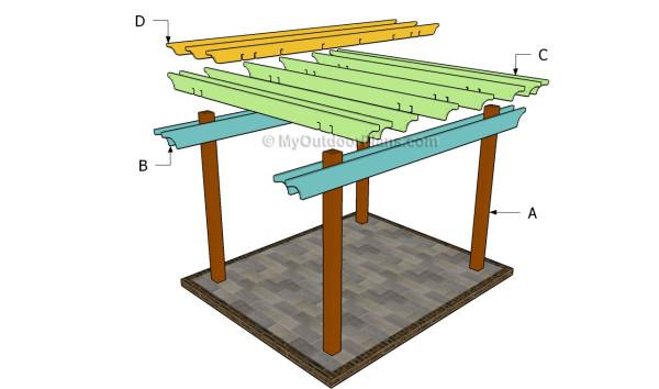 Pergola plans free standing pdf plans woodworking bench leg vise