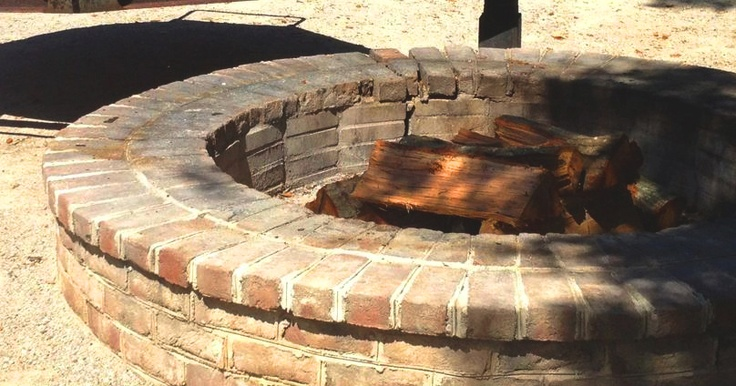 Rustic Feel With Brick Fire Pits | Garden Landscape