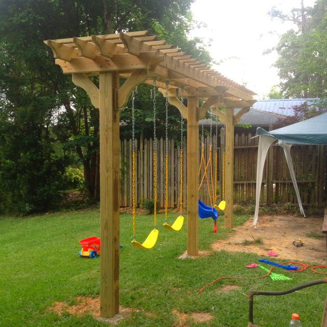 Amazing Pergola Swing Set Plans - Amazing Pergola Swing Set Plans Garden Landscape