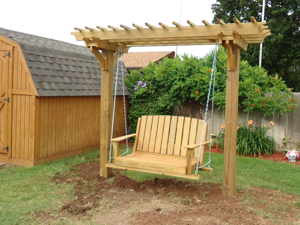 Insider Pergola With Swing Plans