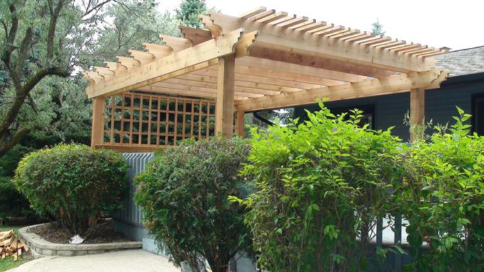Amazing free standing pergola on deck garden landscape for 14x14 deck plans